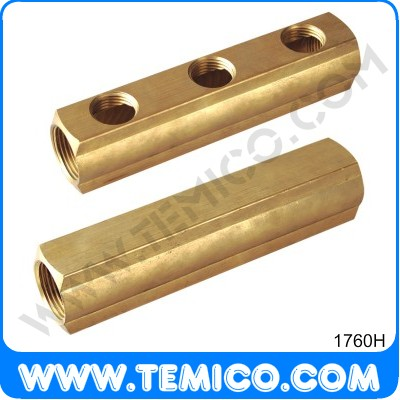 Brass bar manifold  interaxis 50 (1760H)