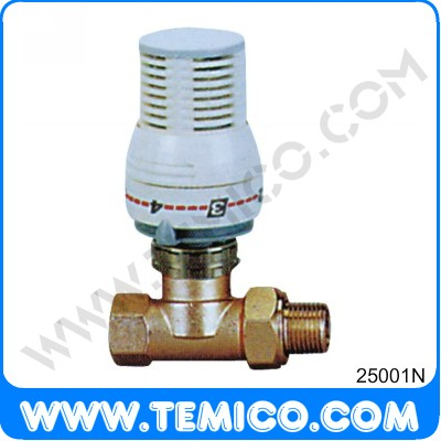 Stright radiator valve with thermostatic head (25001N)