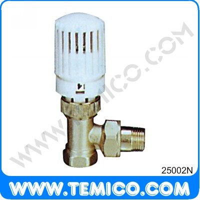 Angle radiator valve with thermostatic head (25002N)