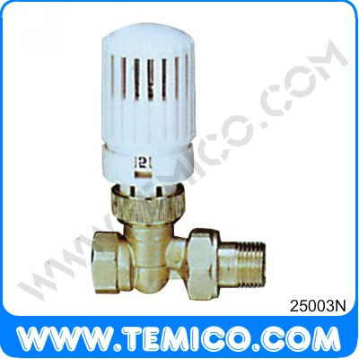 Stright radiator valve with thermostatic head (25003N)