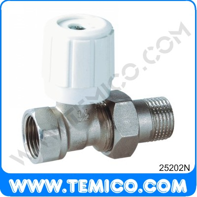 Straighte radiator valve with handle (25202N)