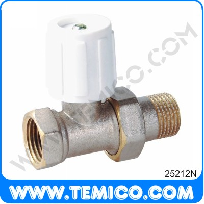 Straight radiator valve with handle (25212N)