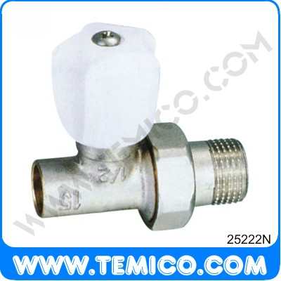 Straight radiator valve with handle (25222N)
