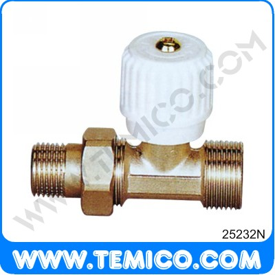 Straighte radiator valve with handle (25232N)