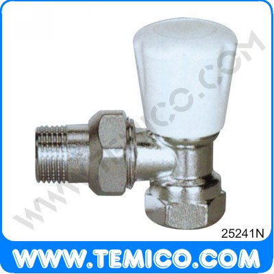 Angle radiator valve with handle (25241N)