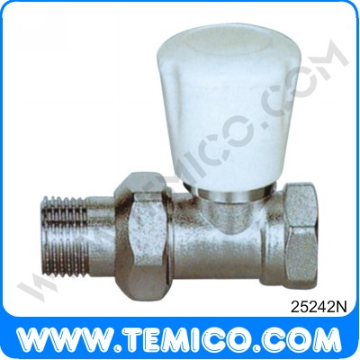 Straight radiator valve with handle (25242N)