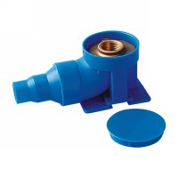 Blue plastic box with elbow(149228)