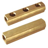 Brass bar manifold  interaxis 50(1760H)