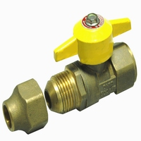 Brass ball valve for gas yellow butterfly npt(20923H-ALSY)
