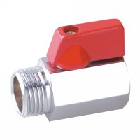 Male/female mini ball valve with aluminium handle(22601C-ALSR)