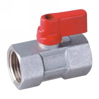 Female mini ball valve with aluminium handle(22610N-ALSR)