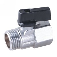 Male/female mini ball valve with aluminium handle(22611N-ALSH)