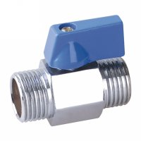Male mini ball valve with plastic handle(22615-PLSB)