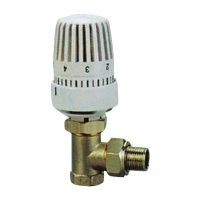 Angle radiator valve with thermostatic head(25000N)