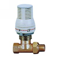 Stright radiator valve with thermostatic head(25001N)