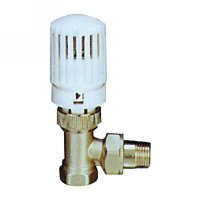 Angle radiator valve with thermostatic head(25002N)