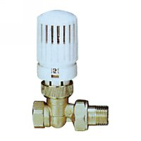Stright radiator valve with thermostatic head(25003N)