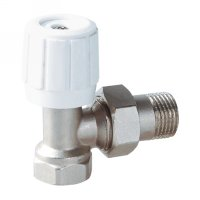 Angle radiator valve with handle (25200N)
