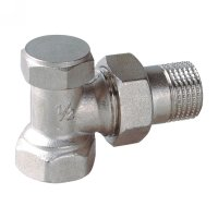 Angle radiator valve with lockshield (25203N)