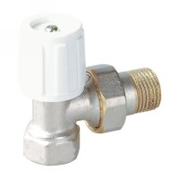 Angle radiator valve with handle (25211N)