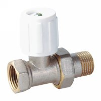 Straight radiator valve with handle(25212N)