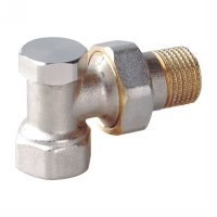Angle radiator valve with lockshield (25213N)