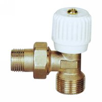 Angle radiator valve with handle (25231N)