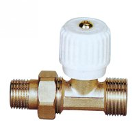Straighte radiator valve with handle(25232N)