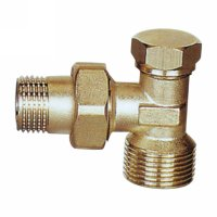 Angle radiator valve with lockshield (25233N)