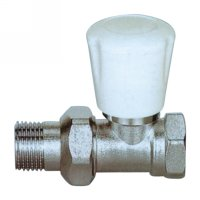 Straight radiator valve with handle(25242N)