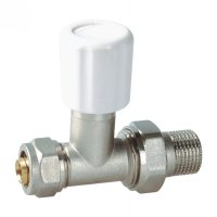 Radiator valve nickled for AL-PEX pipe(25252N)