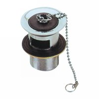 Brass/zinc alloy waste with chain plug(30512)